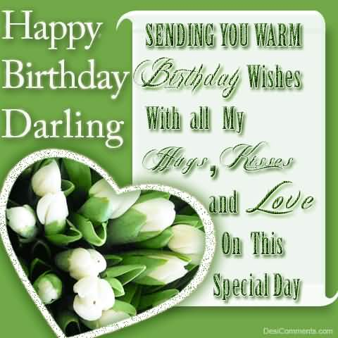 With All My Hugs Kisses And Love Happy Birthday Darling
