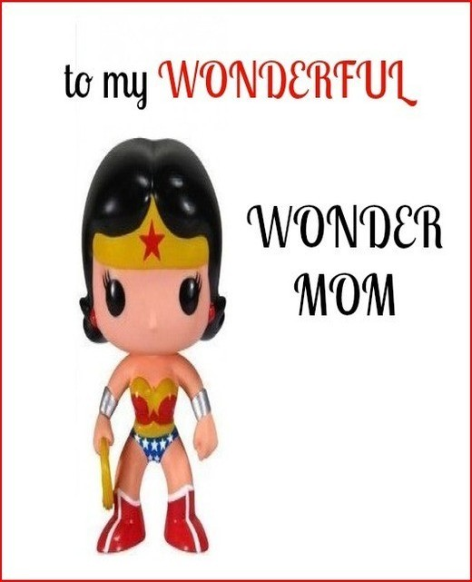 Wonder Mom Birthday Greeting Card