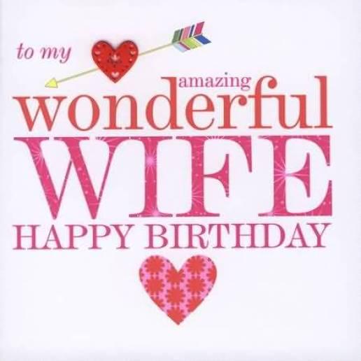 Wonderful Birthday E-Card For Lovely Wife