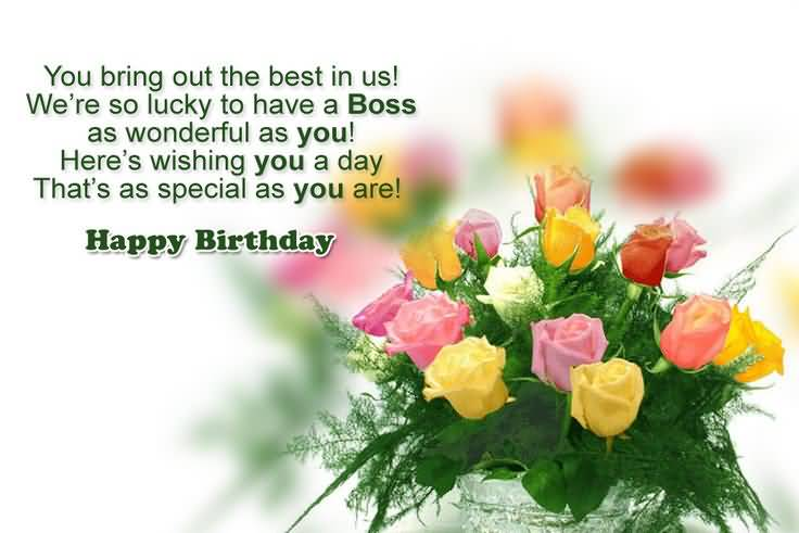 Wonderful Birthday Wishes For Boss