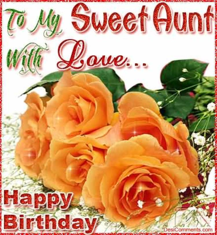 Wonderful Birthday Wishes To Auntie Image