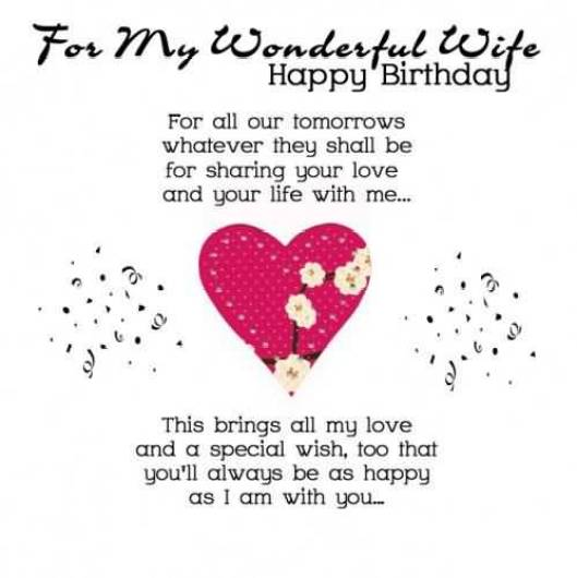 Wonderful Happy Birthday Blessing For Wife