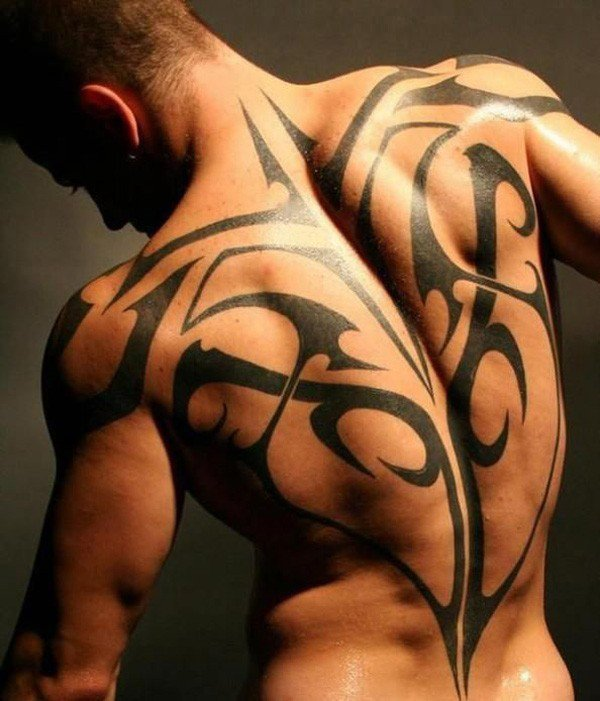 Amazing Ray Tattoo On Back With Black Ink For Man And Woman