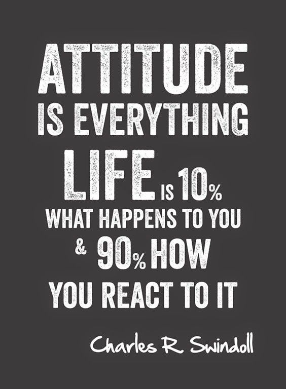Attitude Is Everyhing Life Is 10 What Happens To You And 90 How Yoy React To It Charles R Swindoll