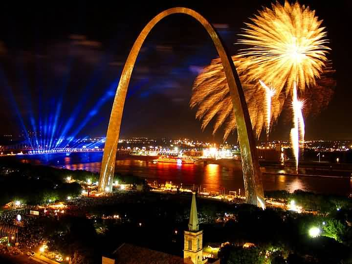 41 The Gateway Arch Of America Look Beautiful In Night Day