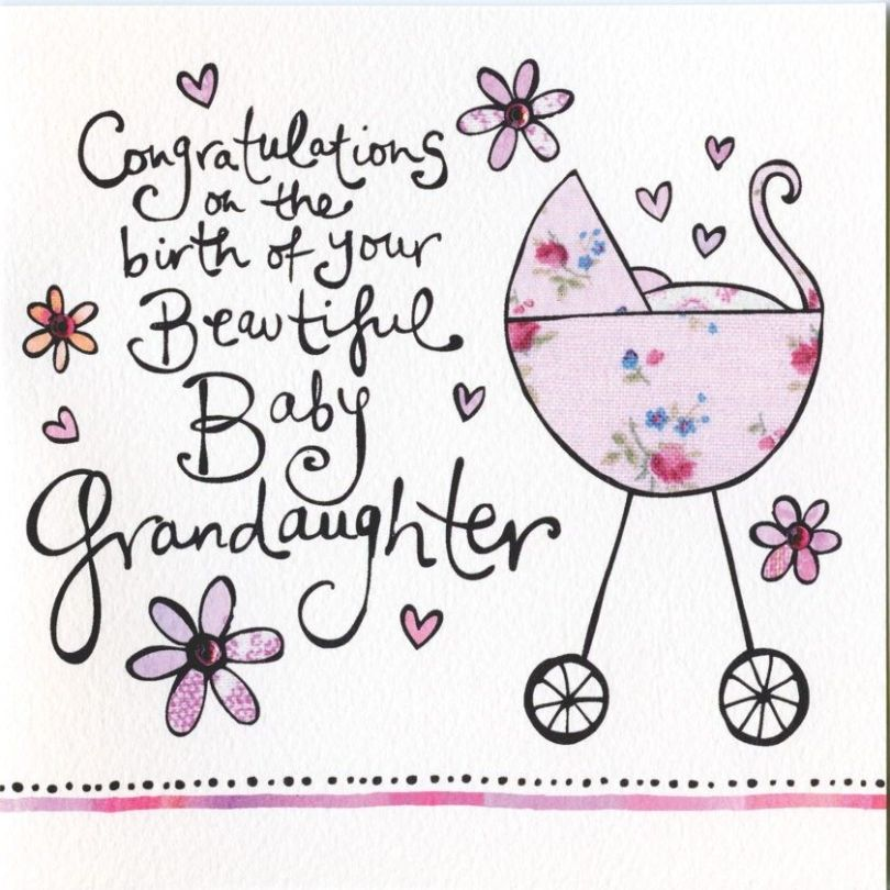 Congratulations On The Birth Of You Beautiful Baby Grandaughter