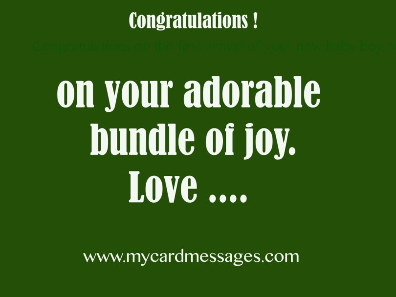Congratulations On Your Adorable Bundle Of Joy Love