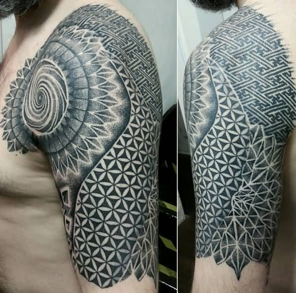 Coolest Mandala Tattoo For Man With Black Ink For Man Woman
