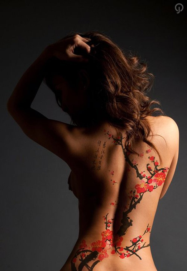Cute Amazing Color Tattoo On Back With Colorful Ink For Man Woman