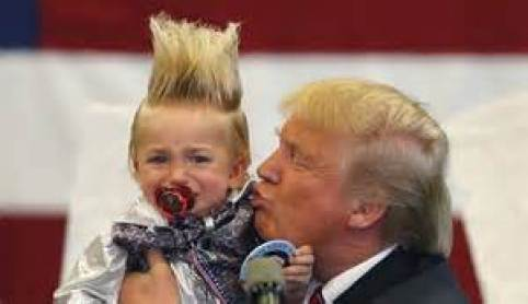 Donald Kissing A Kid