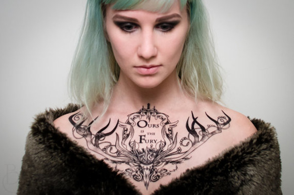 Eye Catching House Baratheon Game Of Thrones Tattoo On Chest For Man Woman