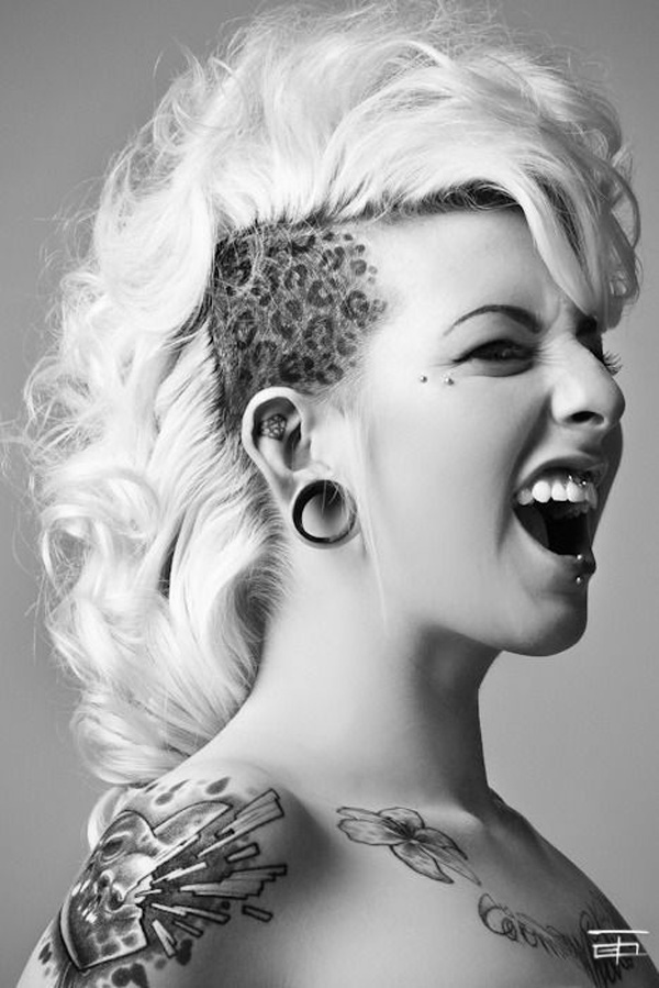 fantastic tattoo on the head With Black ink For Man And Woman