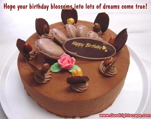hope your birthday blossing into lots of dreams come true.