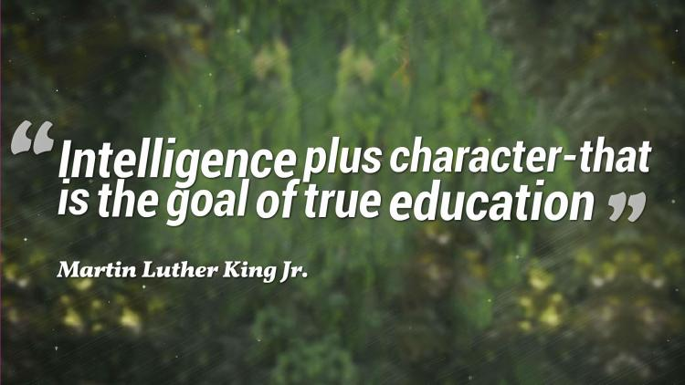 intelligence plus character that is the goal of true education. martin luther king jr.