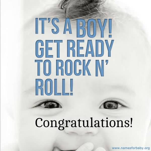 Its A Boy Get Ready To Rock N Roll Congratulations