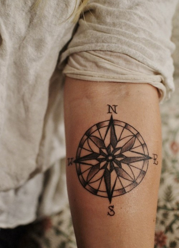 Most Trending Compass Temporary Tattoo For Man Woman
