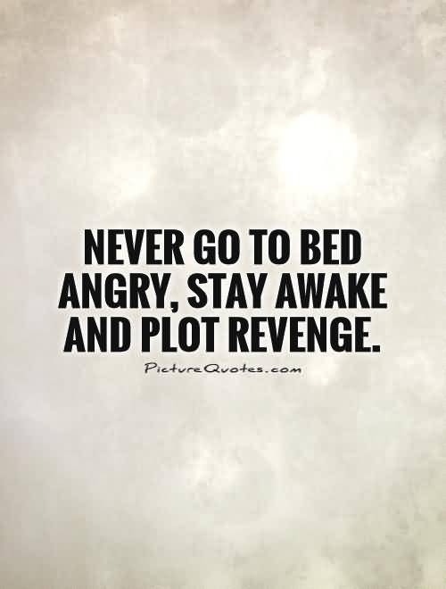 Never Go To Bed Angrystay Awake And Plot Revenge