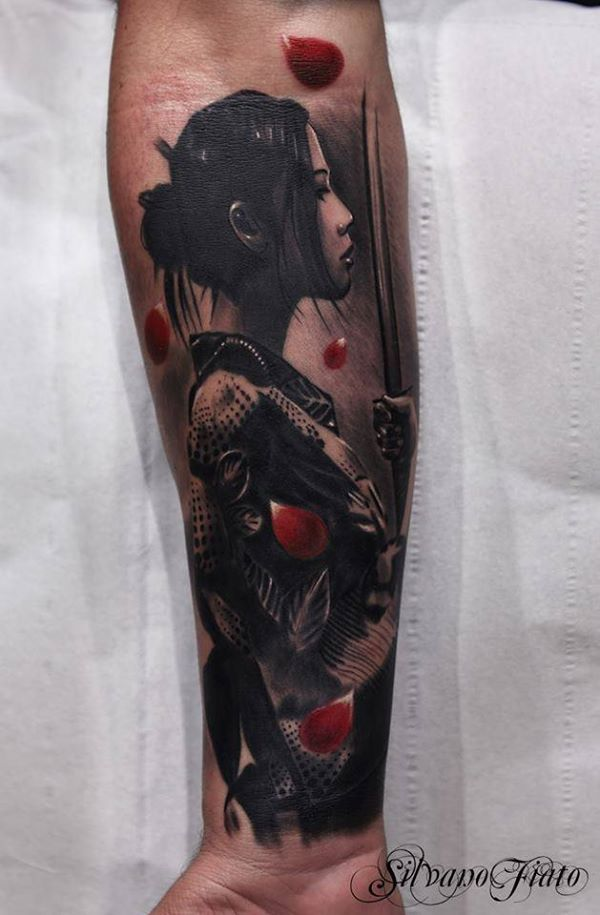 Nice Warrior Tattoo On Wrist With Colorful Ink For Women And Man Fighting Warrior Tattoo