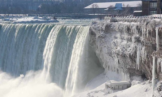 Perfect Home With Niagara Falls Freezes Seen