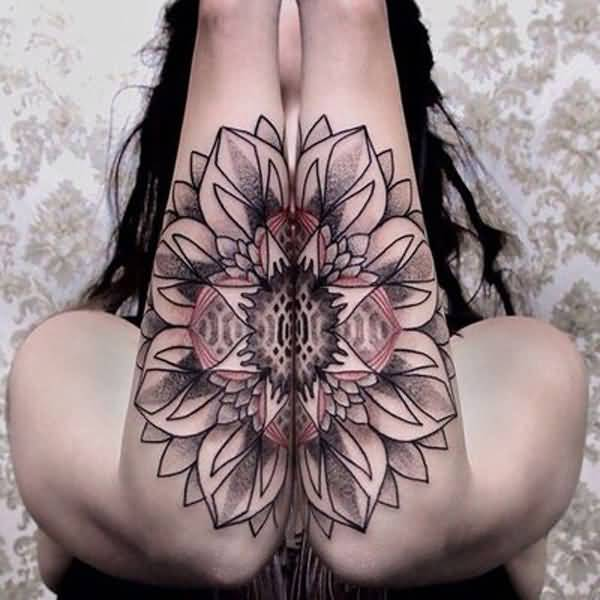 Sensational Mandala Forearm Tattoo With Black Ink For Man Woman