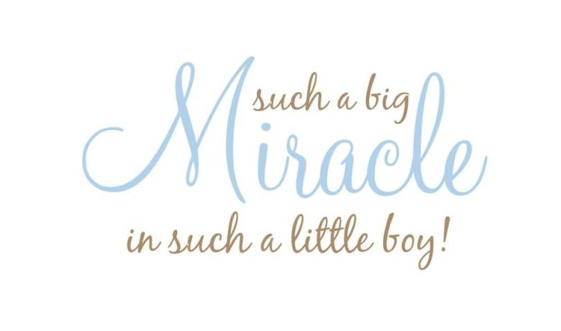 Such A Big Miracle In Such A Little Boy