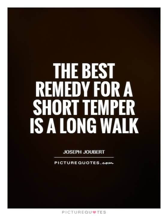 The Best Remedy For A Short Temper Is A Long Walk Joseph Joubert