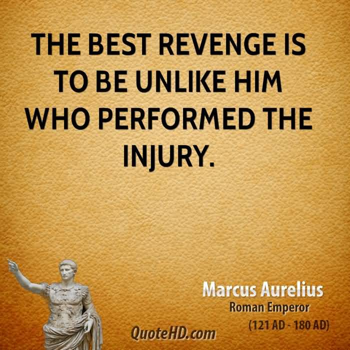 The Best Revenge Is To Be Unlike Him Who Performed The Injury Marcus Aurelius