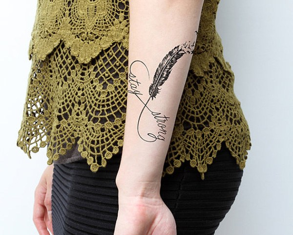 Trendy Infinity Temporary Tattoo For Man Woman