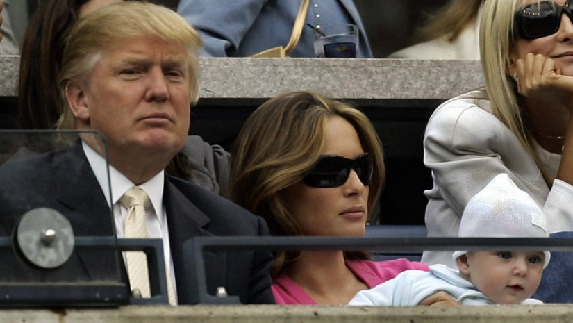 Trump Horizontal Large Gallery With His Partner