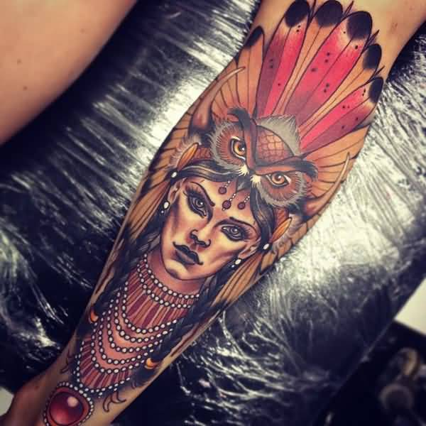 Unique Warrior Tattoo On Wrist With Colorful Ink For Women And Man