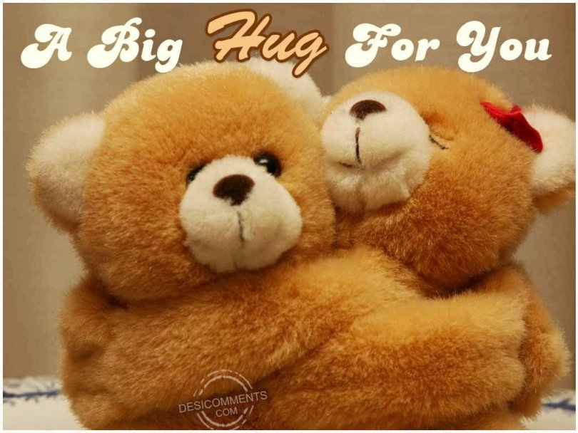 A Big Hug Happy Hug Day Wishes Image