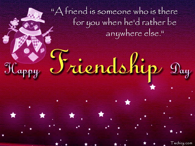 A Friend Is Someone Who Is There Happy Friendship Day Greetings