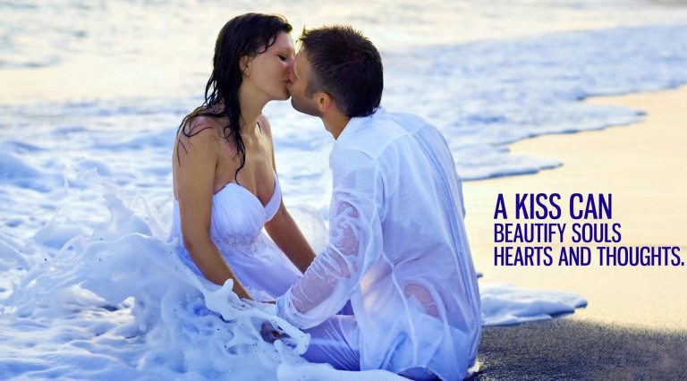 A Kiss Can Beautify Souls Heart And Thoughts Lovely Couple Image