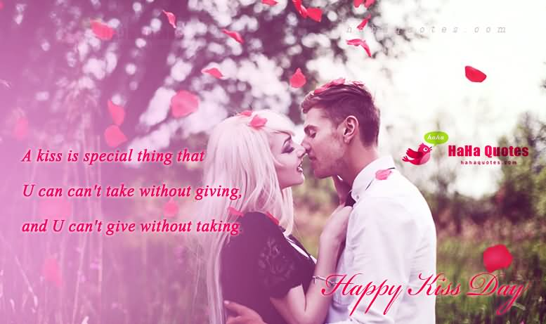 A Kiss Is Special Thing Happy Kiss Day Wishes Image