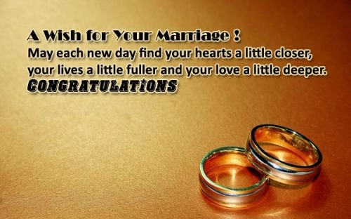A Wish For Your Marriage Greeting Image