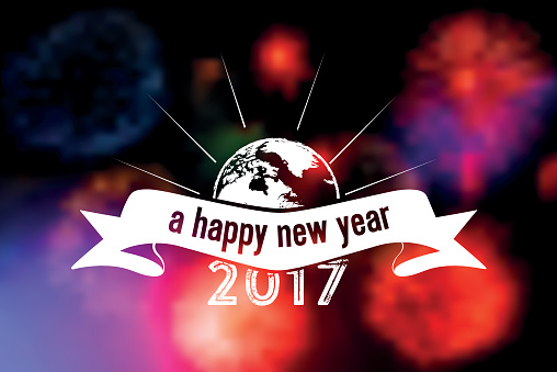 A Wonderful New Year 2017 Wishes Image