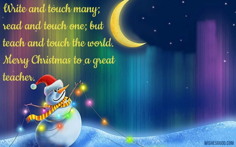 Advance Greeting For Merry Christmas To Teacher