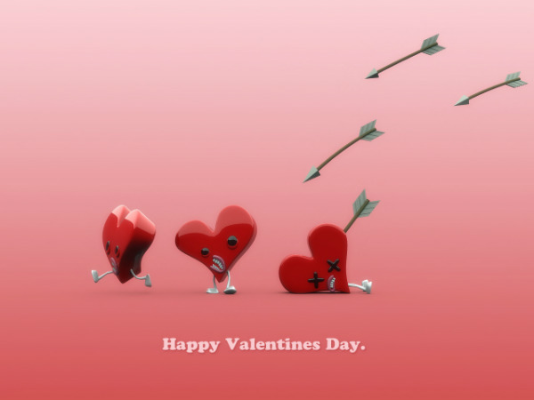 Amamzing Happy Valentine Day Wishes Wallpaper