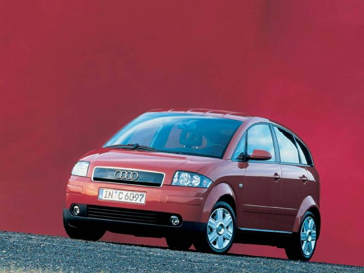 Amazing front side of red Audi A2 Car