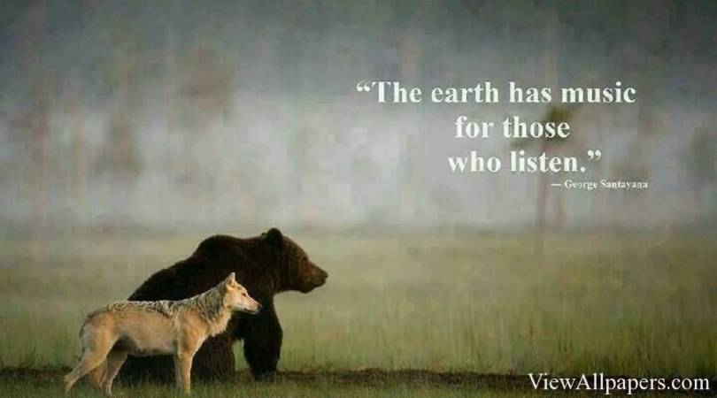 Animal Quotes The earth has music for those who listen