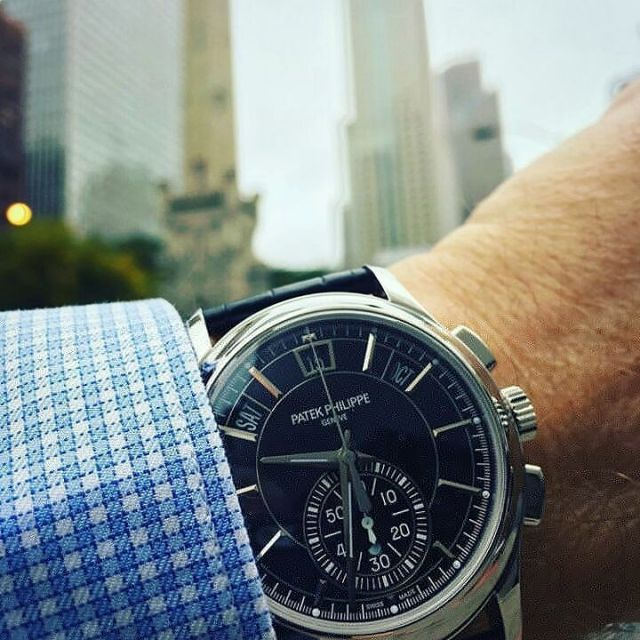 Awesome Black Patek Philippe Watch With Seconds