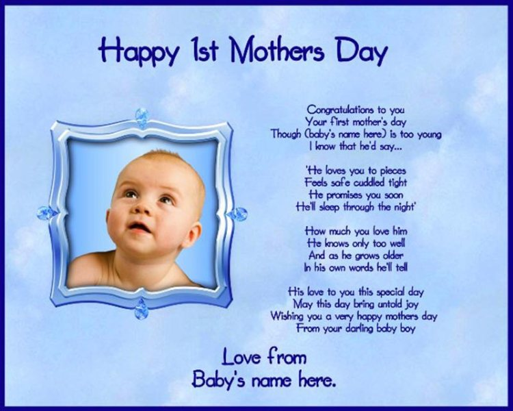 Awesome Happy Mothers Day Wishes From Baby