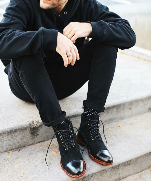 Awesome High neck Shoe For People Who Loves Black