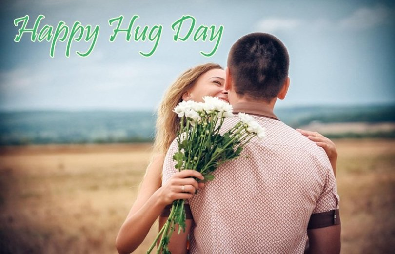 Awesome Hug Day Wishes Wallpaper