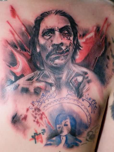 Awesome One More Celebrity Zombie Tattoo