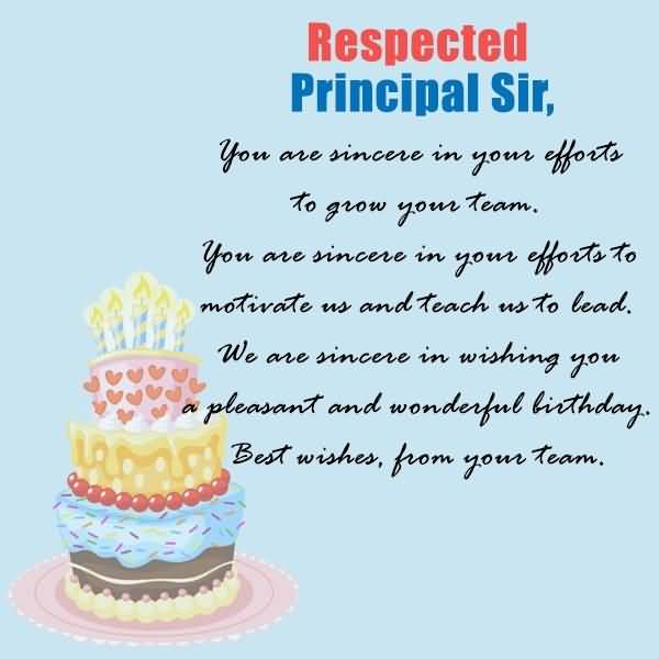 Awesome Principal Sir Birthday Poem And Greeting Image