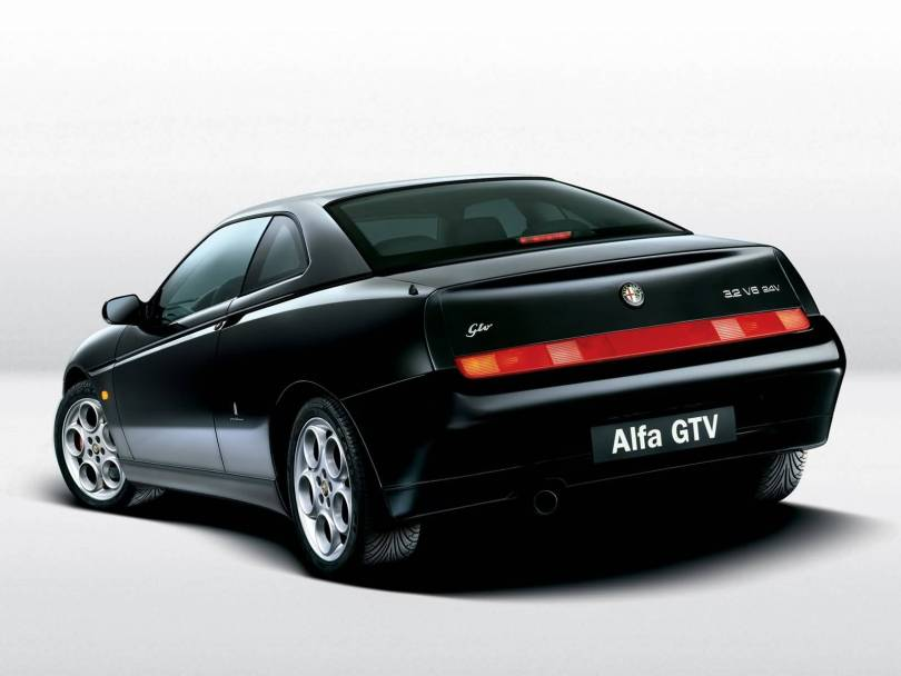 Awesome back side of Black colourAlfa Romeo GTV Car