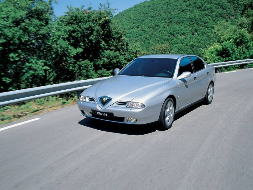 Awesome silver colour Alfa Romeo 166 Car on the road