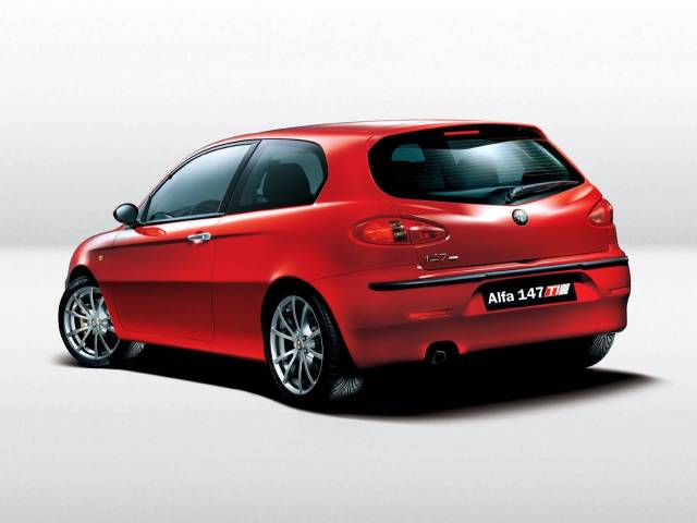 Awesome view of red Alfa Romeo 147 Car