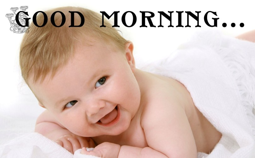 Baby Wishes Good Morning Image